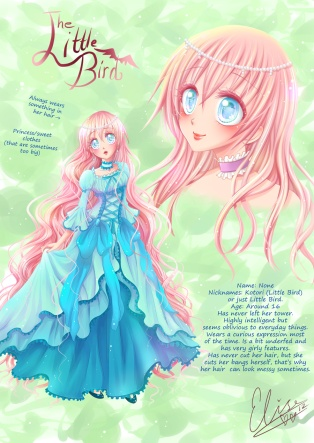 Kotori från min manga Little Bird. Digital. 2012