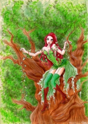 Fanart på Poison Ivy. Copicpennor. 2011